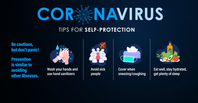 Coronavirus: Tips for Self-Protection. Be cautious, but don't panic! Prevention is similar to avoiding other illnesses.
