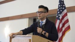 Assemblymember Low at Pancakes and Proposals in Campbell