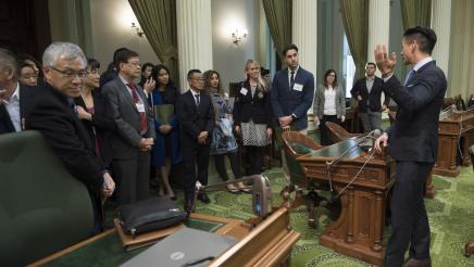 Assemblymember Low welcomes the California Optometric Association