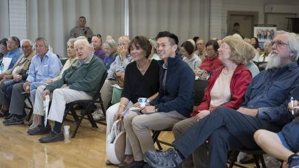 Assemblymember Low at Senior Scam Stopper Event