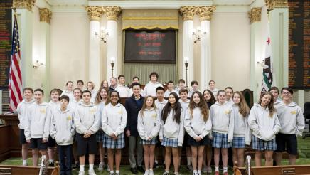 Assemblymember Low Welcomes St. Lucy School Students to the Capitol